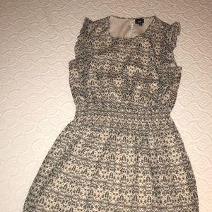Black & nude cap sleeved dress